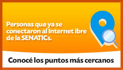 Personas conectadas AHORA al Internet libre de la SENATICs